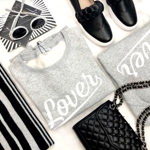 Rebecca Minkoff Gray 'Lover' Sweatshirt